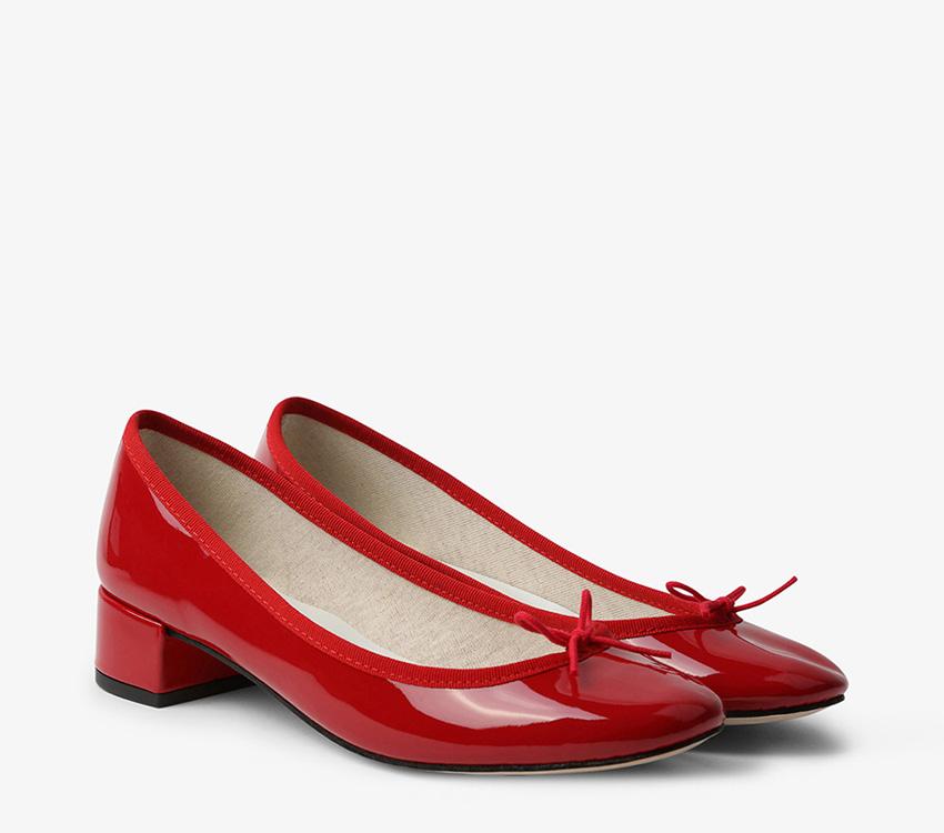 Camille Ballerinas - Flammy red