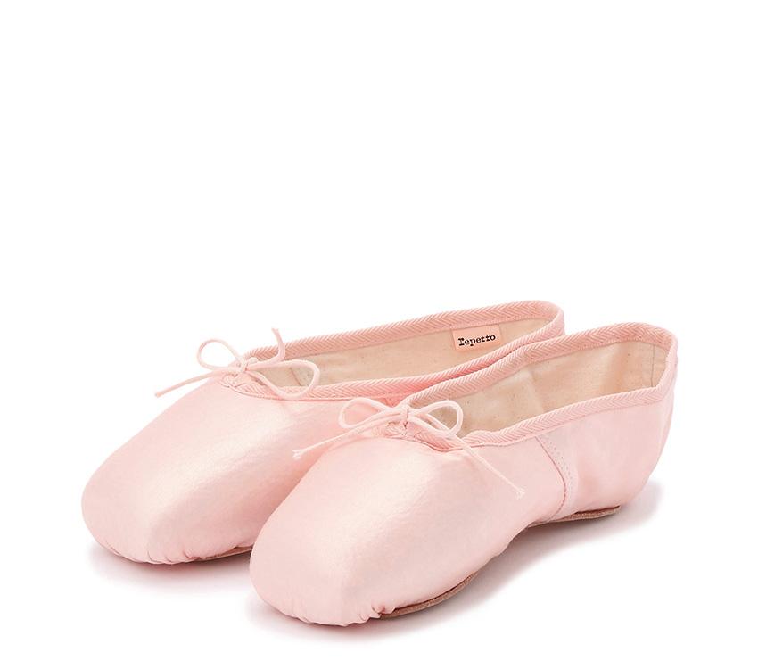 Julieta satin pointe shoes - LargeBox Soft sole - Salmon