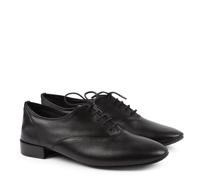 Charlotte Oxford Shoes - Black