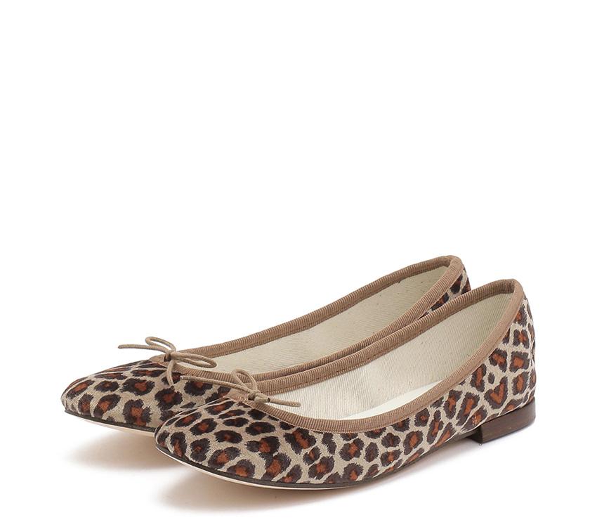 Cendrillon Leopard Ballerinas<br>『WEB限定』/【New Size】 - Chestnut brown