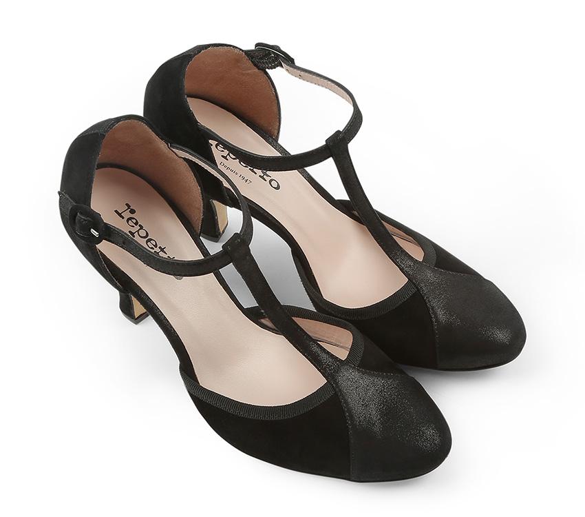 Baya T-strap Shoes - Carbone