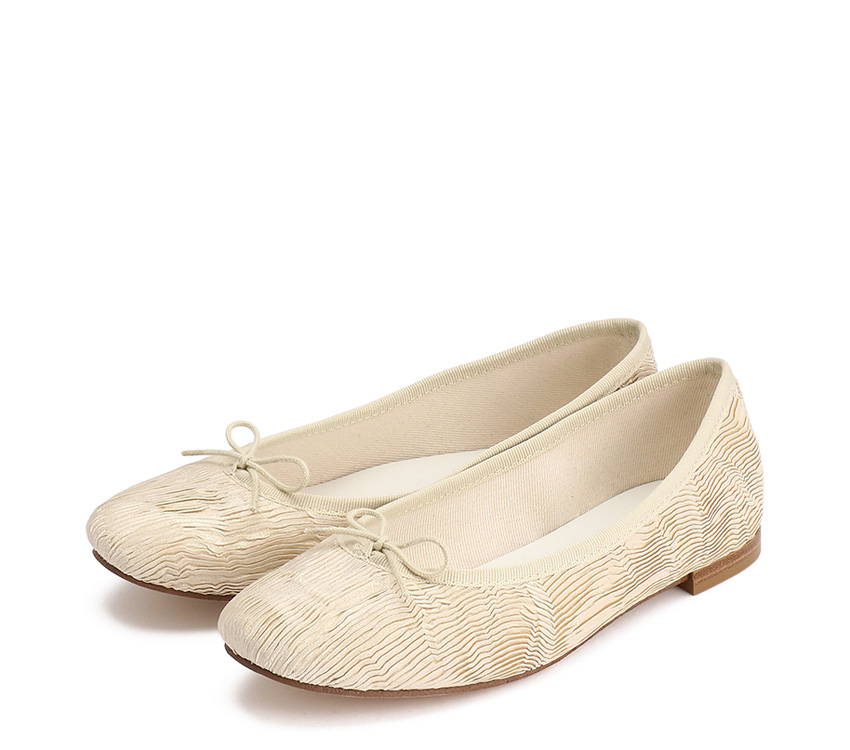 Cendrillon Haute Ballerinas - Plumeria white