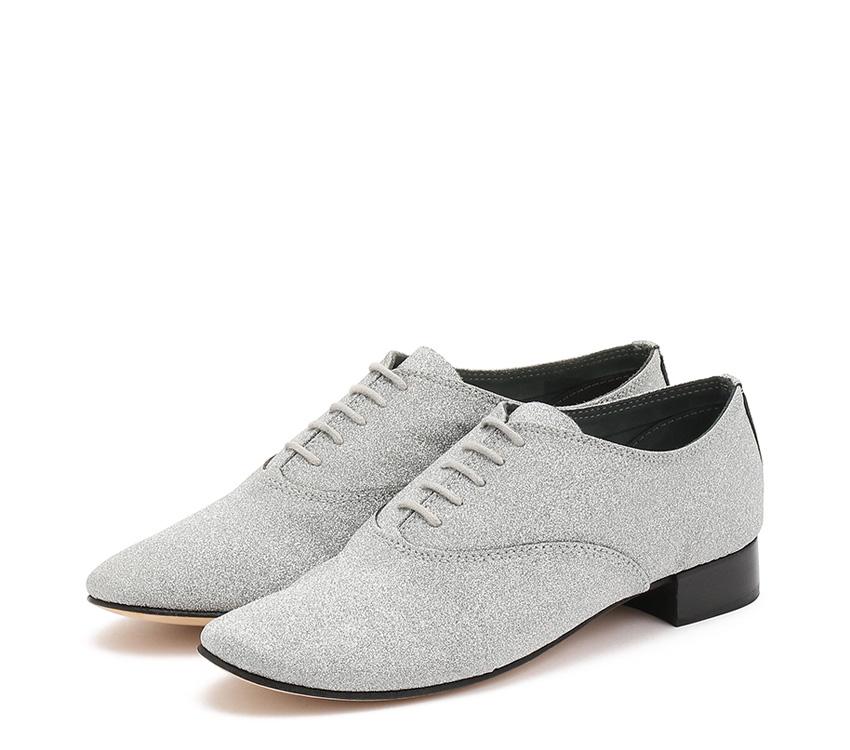 Zizi Oxford Shoes - Silver