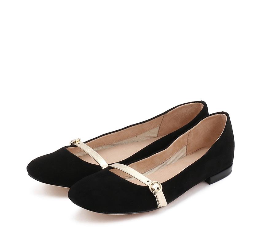 Saskia Ballerinas 【New Size】 - Black/Gold