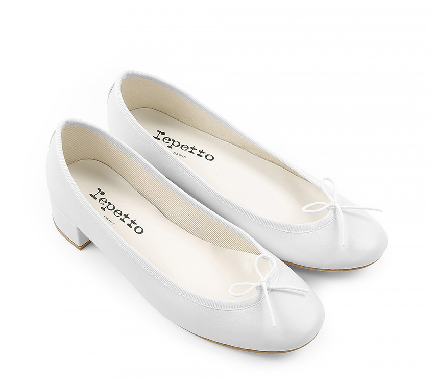 Camille Ballerinas - White