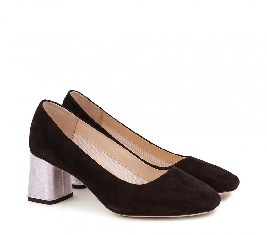 Marlow Pumps - Black and Silver