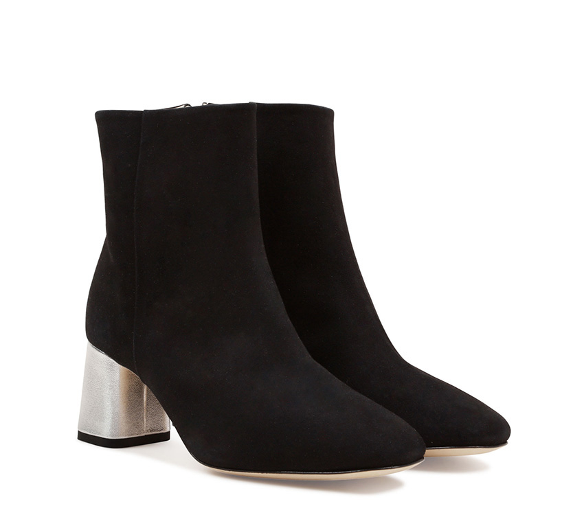 Melo Boots - Black and Silver